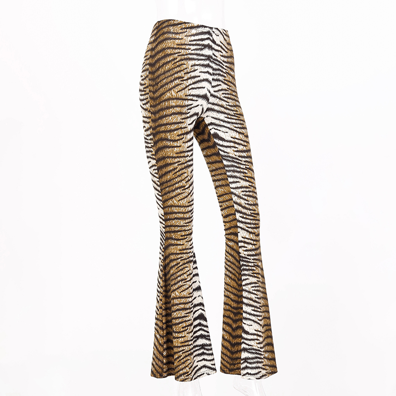 H1c778c0587f64485b3f2c3c896505158B Hugcitar high waist leopard print flare leggings 2020 autumn winter women fashion sexy bodycon trousers club pants