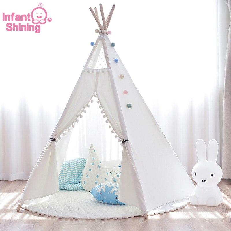 Spelen Tent Kindje Speelhuis Kinderen Tent Spel Prinses Kamer Meisje Kamer Siert Baby Lezen Poppenhuis