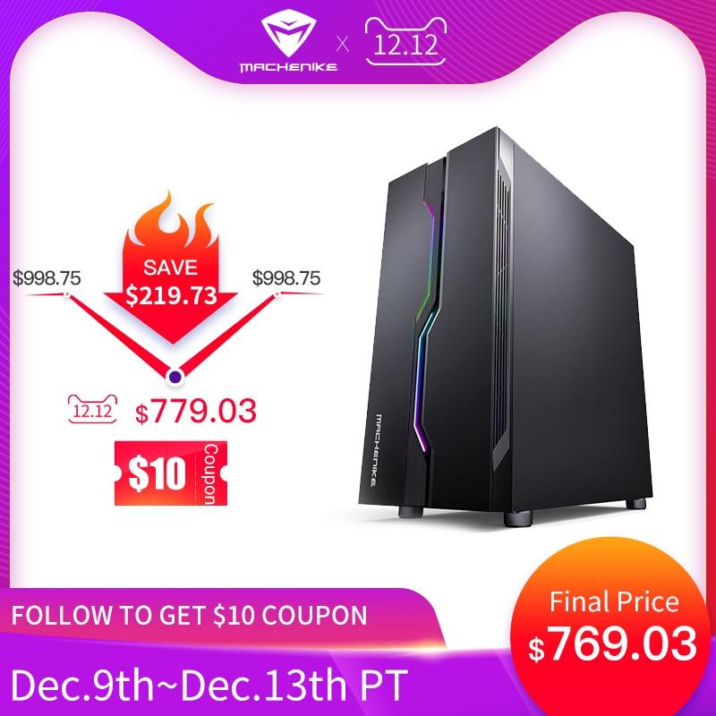 Machenike T90-T56 Intel I5-9400 GTX1660Ti 6G 8G RAM 256G SSD Gaming Computer Desktop PC Настольный компьютер Support DOTA2, PUBG
