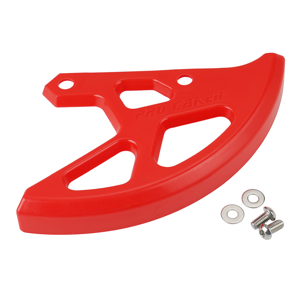 NICECNC Rear Brake Disc Rotor Cover Guard Protection Red <font><b>Plastic</b></font> for <font><b>CRF</b></font> 125 250 <font><b>450</b></font> X OFF ROAD image