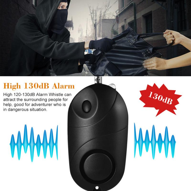 Персональная сигнализация, безопасный звук, Аварийная сигнализация для самообороны, охранная сигнализация, брелок, светодиодный фонарик д...
