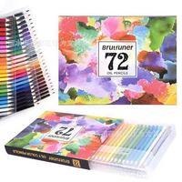 Производители Brutfuner72 Цвет ручка Цвет привести ручной росписью жирной Non-растворимые в воде Цветной карандаш