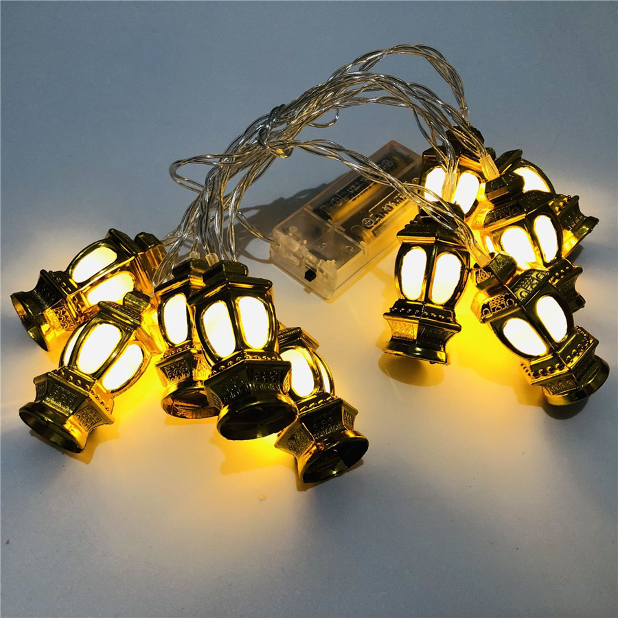 BEIAIDI 4M 20 LED Golden Lantern Fairy String Light AC220V Outdoor Garden Patio Christmas Party Wedding Lantern String Garland Light