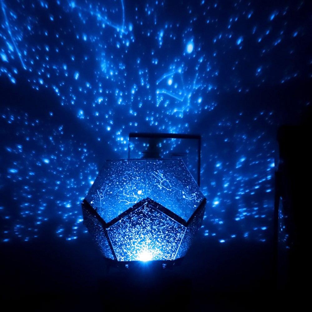 Gökyüzü projektör LED sihirli gece lambası Starlight Galaxy yıldız gece lambası yatak odası dekorasyon çocuklar için hediye