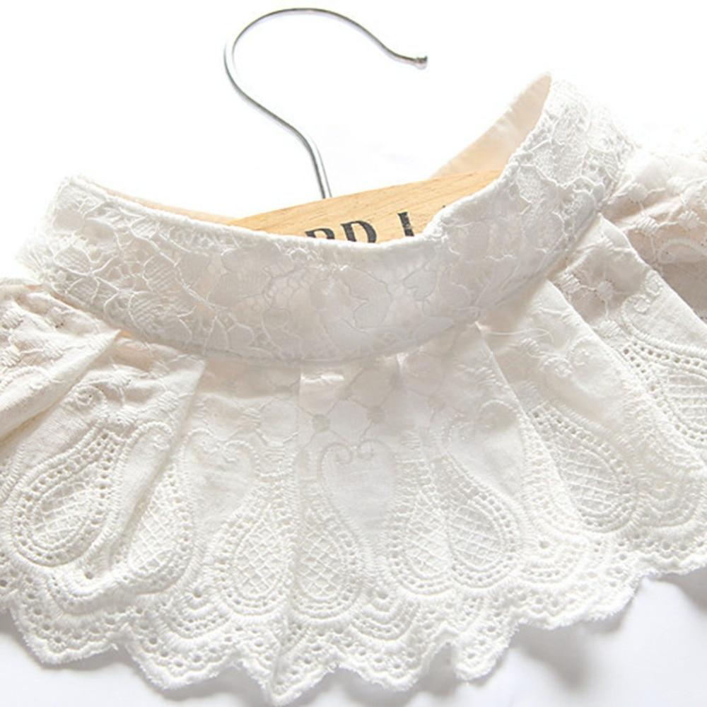 Korean Version Women Pure Color Lace Detachable Lapel Choker Necklace Shirt Fake False Collar Lapel Blouse Clothes Accessories