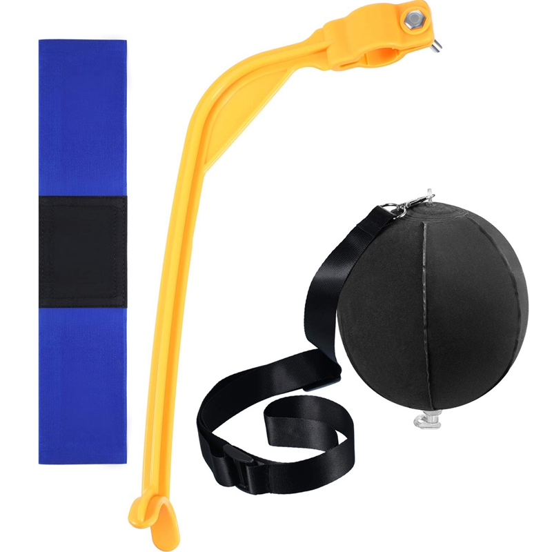 3 Pieces Golf Training Aids Swing Trainer Assist Set Include Impact Ball and Band