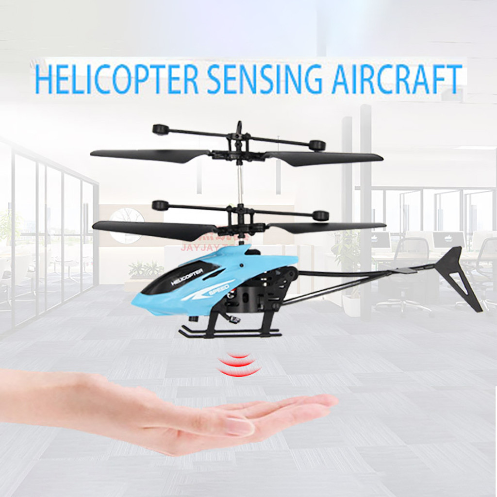 Mini RC Infraed Induction Helicopter Aircraft Flashing Light Toys Christmas Gift remote control charging suspension aircraft toy