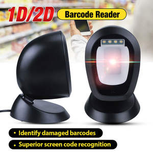 Barcode Scanner Platform Usb-Interface Handsfree 1D 2D Automatic with 360-Degrees Rorating