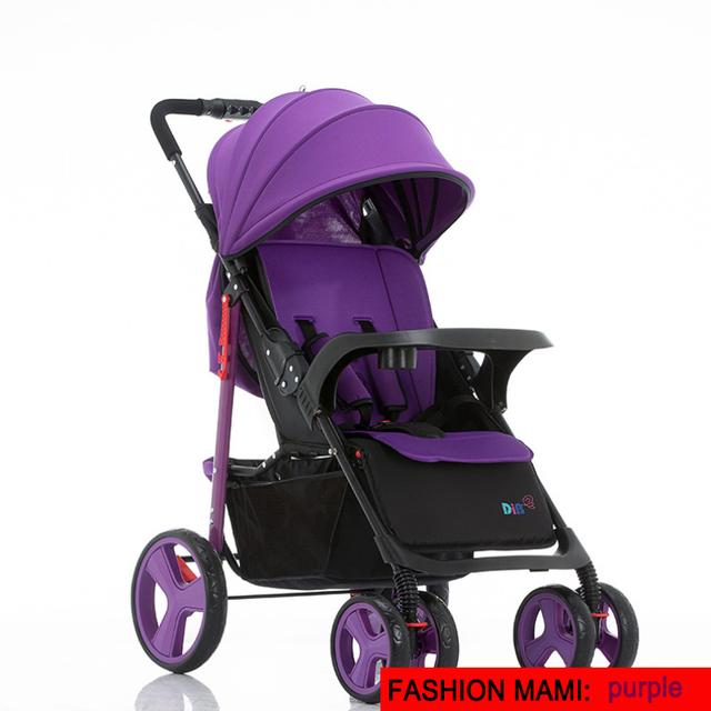 Luxury carrinho de bebe ultra light portable can sit reclining folding high landscape baby stroller shockproof baby car