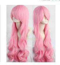 zhaoxia++078305@Q8@* ++380 New Long Cosplay V. LUKA Pink Curly Heat Resistant Wig(China)