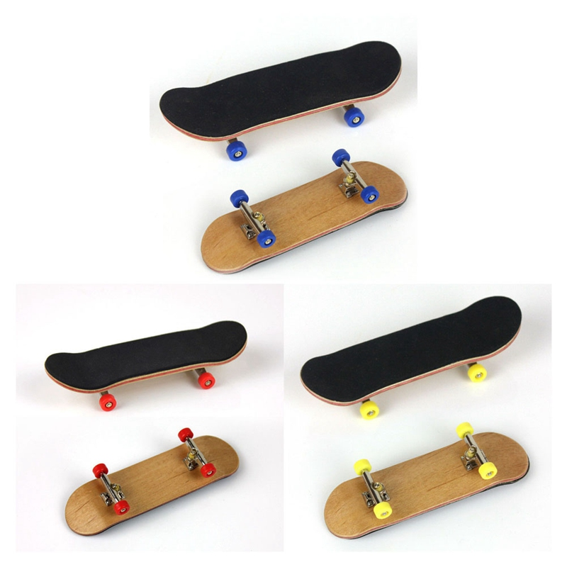 New 1 PC Wooden Finger Skateboards Professional Finger Skate Board Wood Basic Fingerboard Wheel