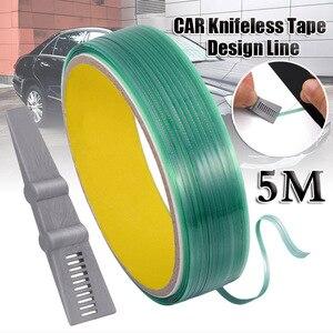 Vinyl Wrap Carbon Fiber Film 5M/16.4FT Knifeless Tape Design Line+Car Stickers Cut Aid Squeegee Cutting Tape Car Accessories