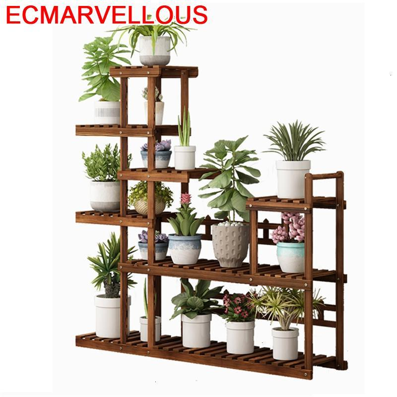Indoor Pot Plantenstandaard Wooden Shelves For Etagere Pour Plante Stojak Na Kwiaty Dekoration Shelf Outdoor Flower Plant Stand
