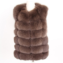 2019 new Women Winter coat Real Fox Fur Coat natural fur Vest Coats Short Natural Real Fur Coat real Fur Jacke cheap Lavelache Thick Warm Fur Thick (Winter) REGULAR Natural Color O-Neck Sleeveless zipper Solid Long Casual Sleeveless Vest