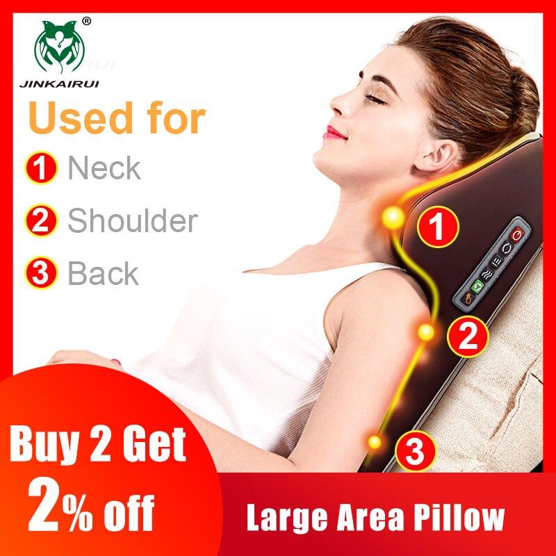 Multi-functional Kneading Cervical Vibration Massager Neck Shoulder Waist Full-body Car Home Duel-use Gift Large Massager Pillow