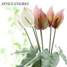 De alta calidad de flores de Anthurium plantas de interior balcón Oficina Artificial flores bonsái piso flor casa Decoración