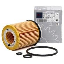 Óleo original filtro para MERCEDES BENZ W176 A160B CLASS W246 W242 B160 GLA180 GLA250 2701840125 2701800109 HU711/6Z H90