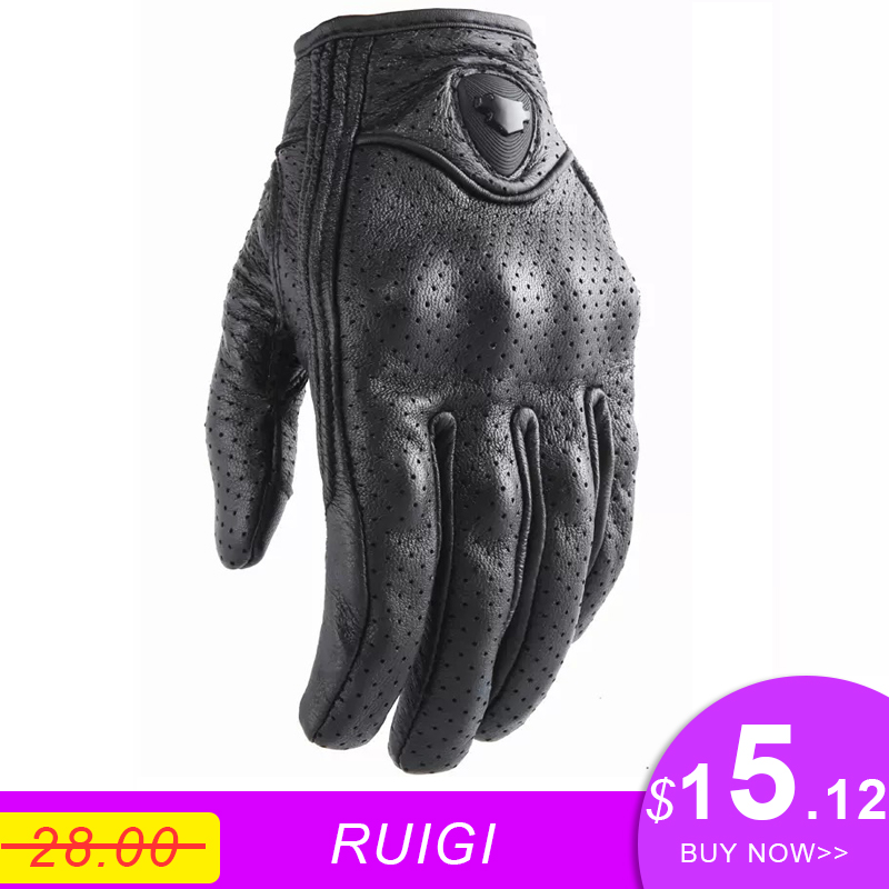 Waterproof Leather Protective Gloves for Motorcycle Downhill Cycling Racing