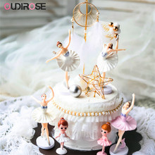 Ballerina Meisjes Danser Cake Decoratie Dreamcatcher Veer Prinses Verjaardag Cake Topper Wedding Party Dessert Tafel Levert(China)