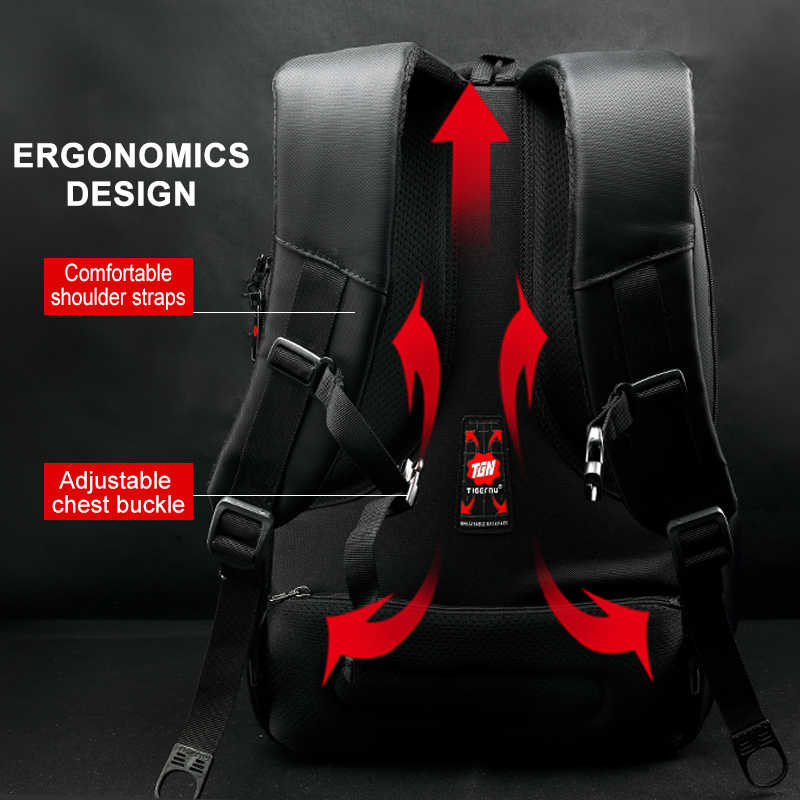 Büyük indirim Anti theft erkekler sırt çantası 15.6 inç Laptop sırt çantaları USB şarj seyahat RU hızlı teslimat tasfiye satışı düşük fiyat