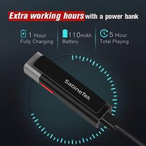 Image 4 - سماعة لاسلكية تعمل بالبلوتوث من SABINETEK smartمايك + ميكروفون لراديو الفيديو في الوقت الحقيقي لهاتف iPhone Huawei الذكي كاميرا تسجيل الفيديو