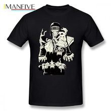 Dredd T Shirt Judge Death T-Shirt Casual Graphic Tee Shirt 100 Cotton Awesome Short Sleeves Male Oversized Tshirt цены