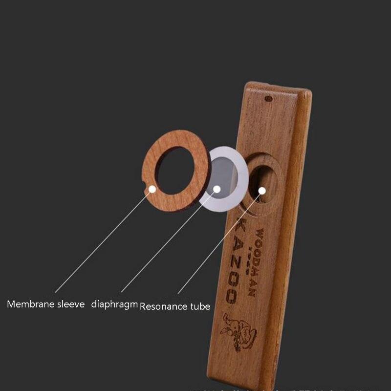 Деревянные Kazoos, изысканный инструмент легко и веселиться для детей и людей Hum Song