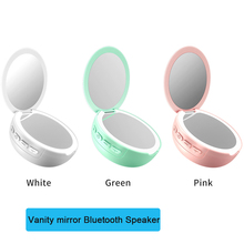 Wireless Bluetooth Speaker LED Mini Fashion Gift Home Cosmetic USB Rechargeable LED Light 3X Magnifying  Dimmable Vanity Mirror