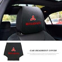 Appui-tête de voiture pour Mitsubishi asx outlander xl 3 lancer pajero 4 l200 Lanc, housse de coussin, 2 pièces