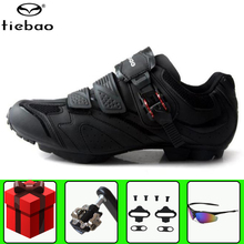 Tiebao MTB Cycling Shoes add SPD pedal set Men sneakers mountain Bike Bicycle Self-Locking Athletic Shoes Zapatillas Ciclismo santic cycling shoes men 2018 self locking mountain bike shoes pro bicycle shoes athletic sneakers zapatillas ciclismo black
