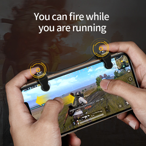 Image 2 - Baseus Gamepad Joystick Game Trigger For PUBG L1RL Gaming Shooter Fire Button Phone Cooler For iPhone Andriod Mobile Controller