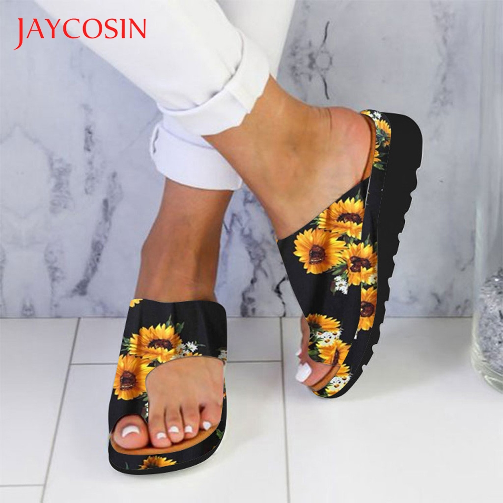 JAYCOSIN Slippers Women Shoes Flats Wedges Open Toe Ankle Beach Flip Flops Shoes Woman Roman Sandals zapatos de mujer slides 1 1