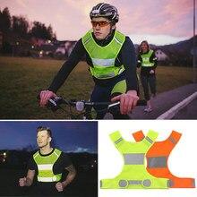 Reflexivo ciclismo colete cintura ajustável seta padrão bicicleta noite segurança esportes andando correndo jogging colete reflexivo