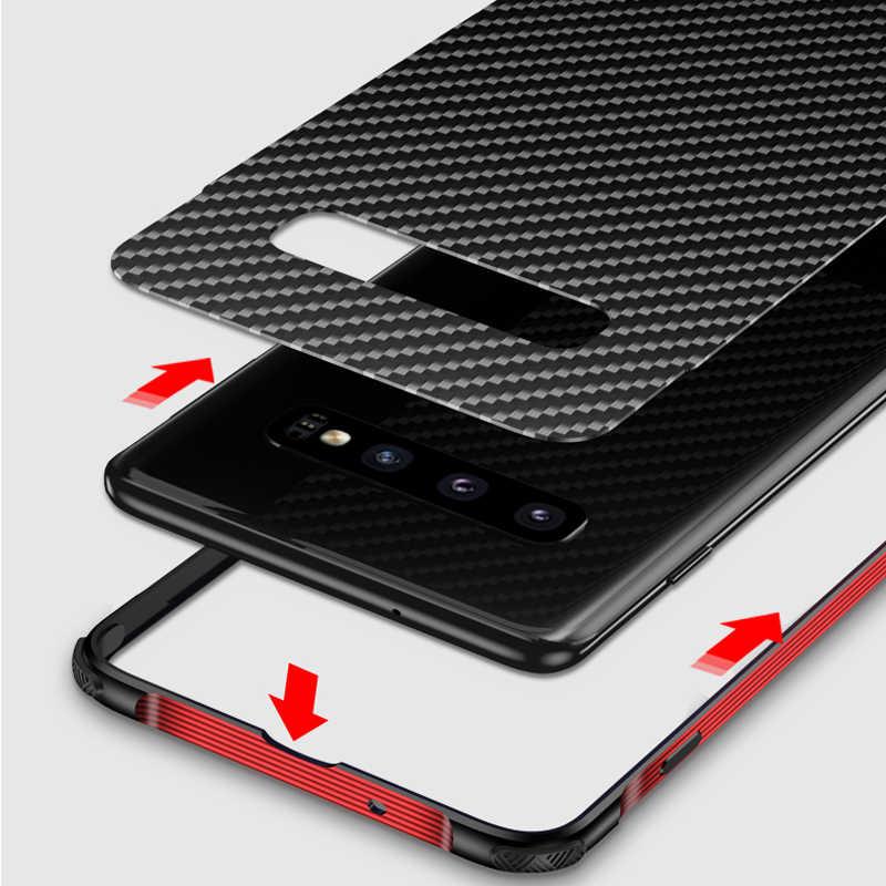 Для samsung Galaxy S10 Plus S10 чехол, металлический каркас алюминиевый бампер сплав рамка Защитная крышка военный класс Броня углеродного волокна