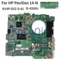 KoCoQin carte mère d'ordinateur portable pour HP pavillon 14-N Core I5-4200U carte mère DA0U82MB6D0 SR170 N14P-GV2-S-A1 2G