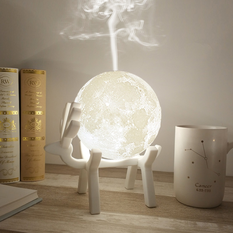 880ML Moon Air Humidifier Aroma Essential Oil Diffuser With LED Night Lamp USB Mist Maker Ultrasonic Humidificador