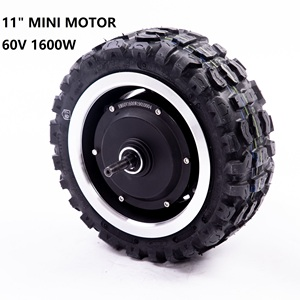11 polegadas 60v 1600w de alta velocidade pneus e motor da bicicleta 11