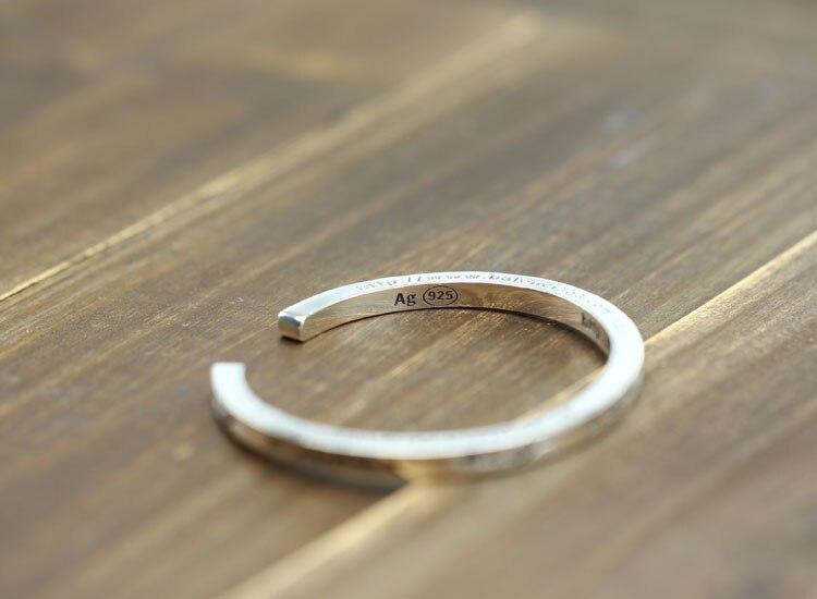 100% браслет из стерлингового серебра S925 пробы, индивидуальный простой модный стиль, властное открытие, стиль, отправка в подарок, ювелирные браслеты - 4