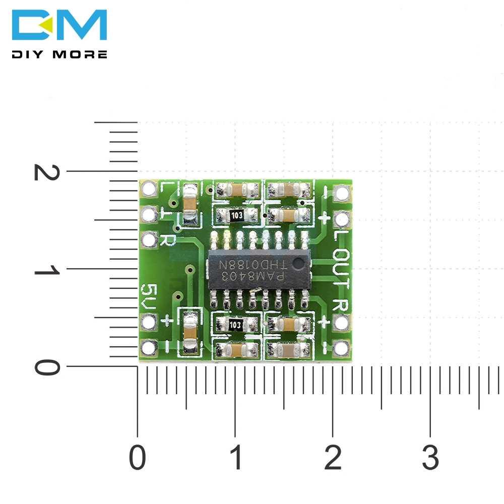 تيار مستمر 5 فولت 2 قنوات ستيريو 3 واط 3 واط الطاقة الرقمية PAM8403 وحدة الفئة D مضخم الصوت مجلس USB الطاقة تصميم مصغرة جدا