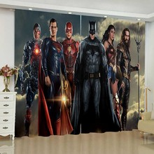 Justice League Curtains for Window DC Batman Wonder Woman Blinds The Flash Finished Drapes Window Blackout Curtains Parlour Room nightmare curtains for window dark style butterfly batman blinds finished drapes window blackout curtains parlour room blinds
