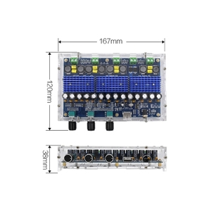 Image 3 - Bluetooth 5.0 TPA3116D2 4 Channel 50Wx2+100Wx2 Digital power amplifier board Stereo Dual Bass Subwoofer AMP home theater XH A310