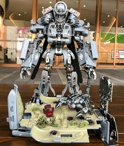 Image 4 - Фигурка робот, 30 см SS08, фигурка из сплава для скрытых теней, трансформация, WJ M05