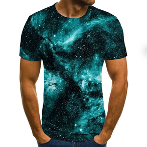 2019 New Design Men T Shirts 3D Print Starry sky Summer Tops Men Short Sleeve Fashion T-Shirt