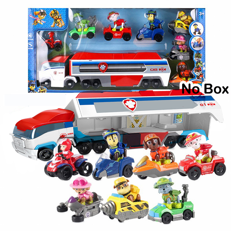 Paw Patrol Dog Car Mobile Christmas Puppy Patrol Anime Rescue Bus Action Figure Toys Deformation Children Toy Gifts 2D72