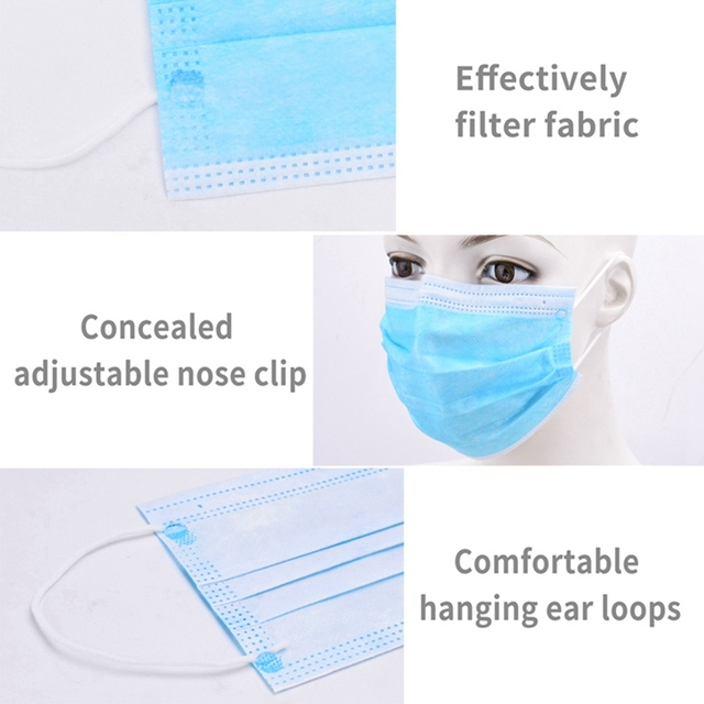 Fast Delivery!3 Layer Non-woven Dust Mask Thickened Disposable Mouth Mask Anti-Dust Face Masks Ear loop Mouth Mask 10/20/30/50pc 4