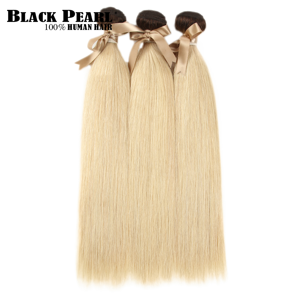 Image 3 - Black Pearl Ombre Bundles With Closure Peruvian Straight Hair 613 Honey Blonde Bundles With Closure Remy 613 Hair Extensions-in 3/4 Bundles with Closure from Hair Extensions & Wigs