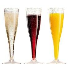 5 шт., бокалы для шампанского, коктейльный винный флейта, пластиковый стакан, вечерние бокалы для свадьбы, украшения для тостов, украшения на год