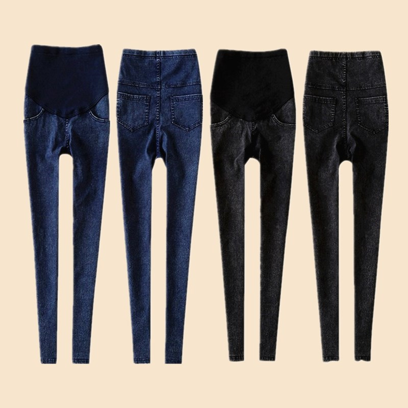 Leggings Women Maternity Jeans Clothes For Pregnant Women Elastic Thin Pencil Feet Pregnancy Pants Women's Denim Skinny Trousers