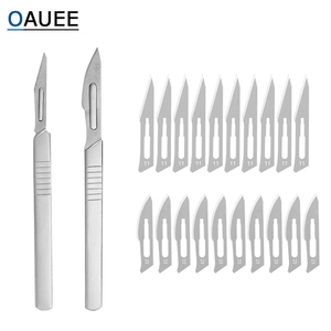 10 pc Carbon Steel Surgical Scalpel Blades + Handle Scalpel DIY Cutting Tool PCB Repair Animal Surgical Knife