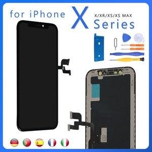 Image 1 - IPhone XR X XS OLED ekran ekran dokunmatik meclisi LCD tamamlandı ekran yedek parçalar sayısallaştırıcı + araçları
